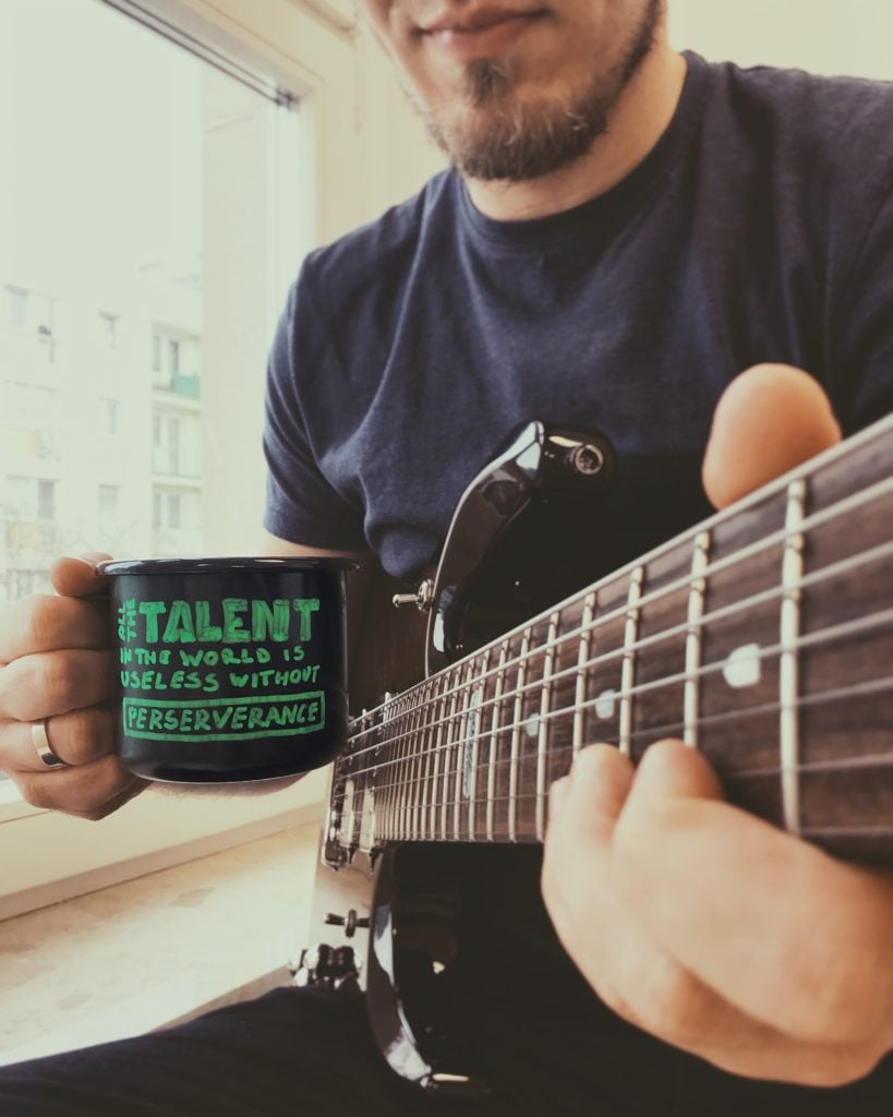 "MondayMugQuote ""All the talent in the world is useless without perseverance"""