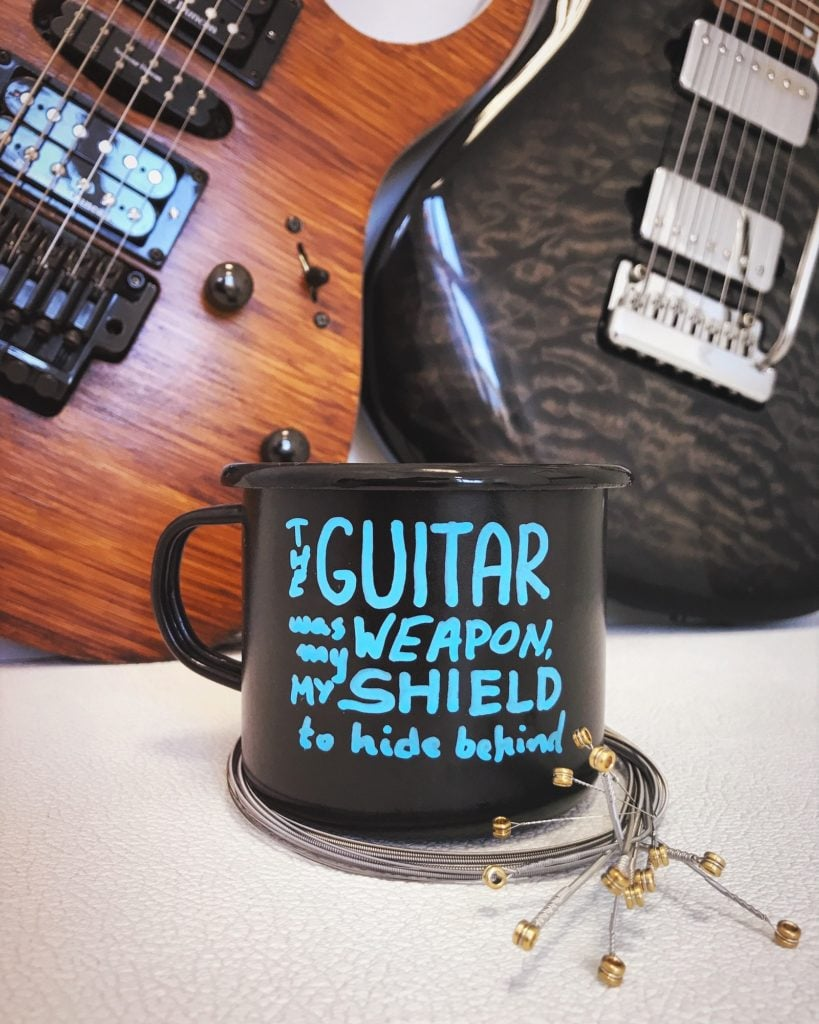 """""""The guitar was my weapon, my shield to hide behind"""""""