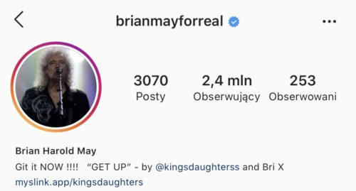 Brian May na instagramie - @brianmayforreal