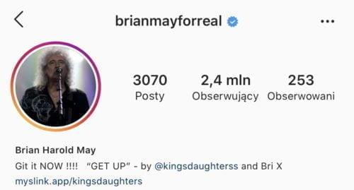 Brian May nainstagramie - @brianmayforreal