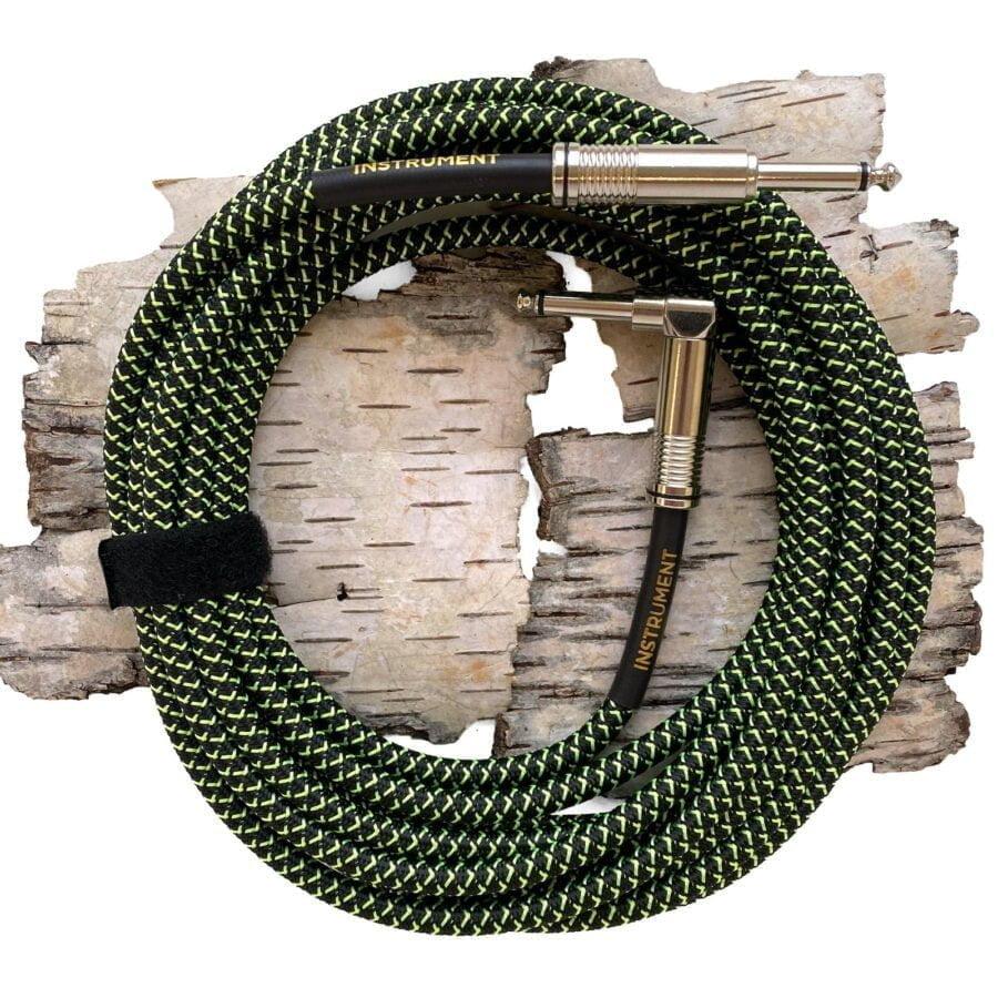 Ernie Ball Black/Green kabel gitarowy EB6082