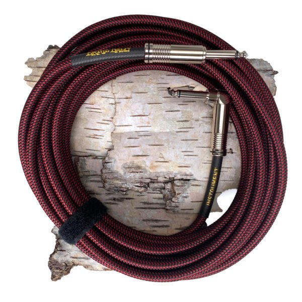 Ernie Ball Black/Red kabel gitarowy EB6062
